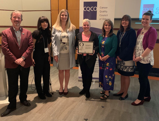 Members of the 2019 Quality Award winning team from R.S. McLaughlin Durham Regional Cancer Centre, Lakeridge Health.